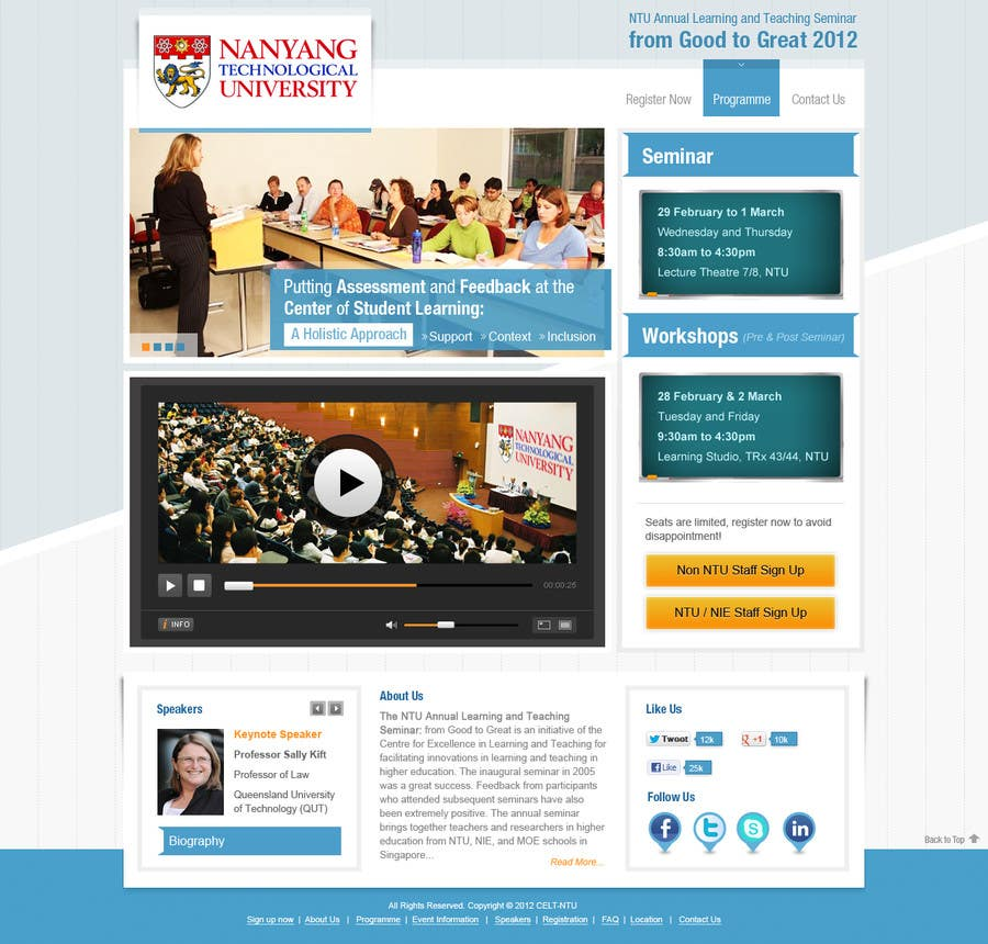"#10 for Website Design for Seminar: ""Putting Assessment and Feedback at the Center of Student Learning"" by iNoesis"