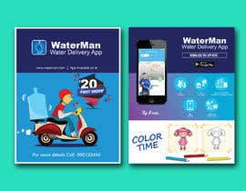 #31 cho Design Flyer for Water Delivery Mobile App A4 Size bởi dristy696