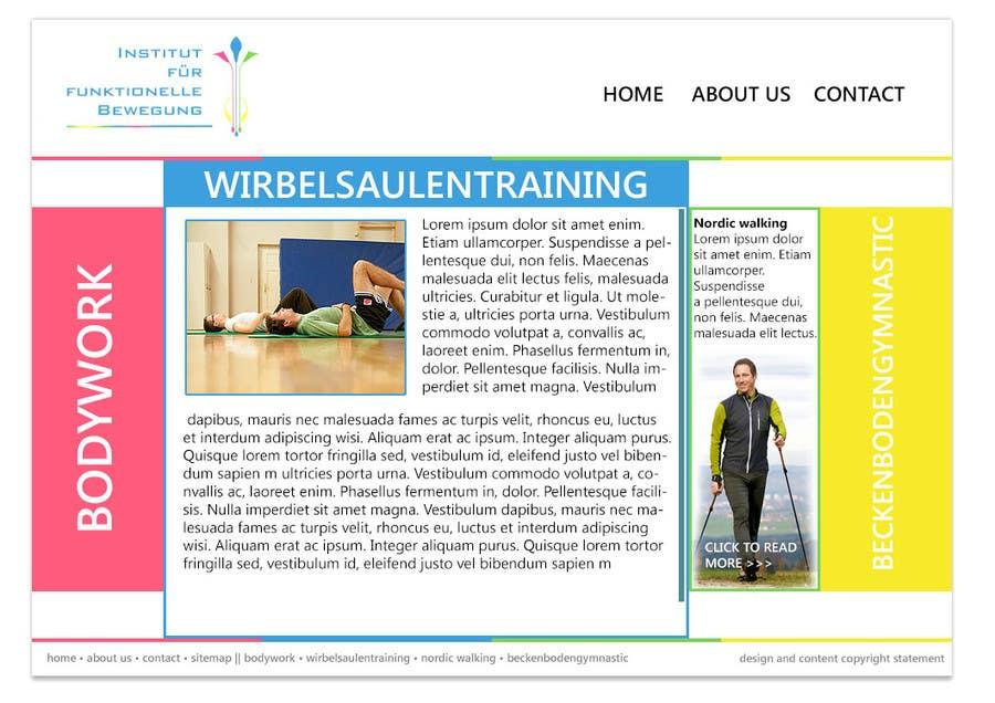 Inscrição nº 3 do Concurso para Wordpress Theme Design for Institut für funktionelle Bewegung