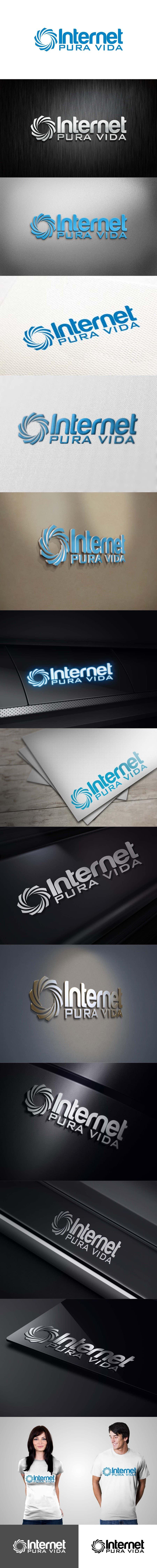 Inscrição nº                                         72                                      do Concurso para                                         Logo Design for  Internet Pura Vida