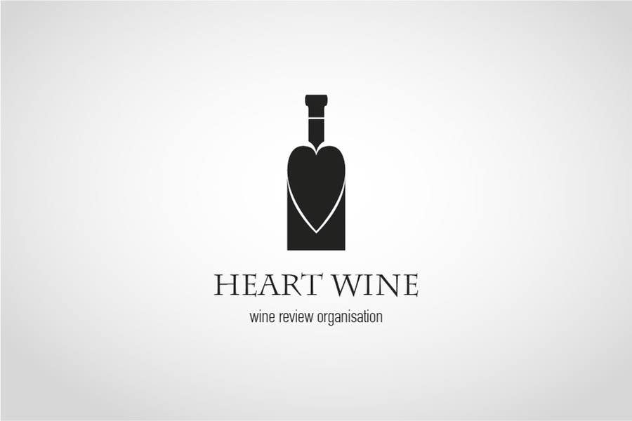 #187 for Logo Design for Heart Wine (love wine) by mdimitris