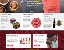 pixelwebplanet tarafından Design a Website Mockup for Liquor Store için no 9