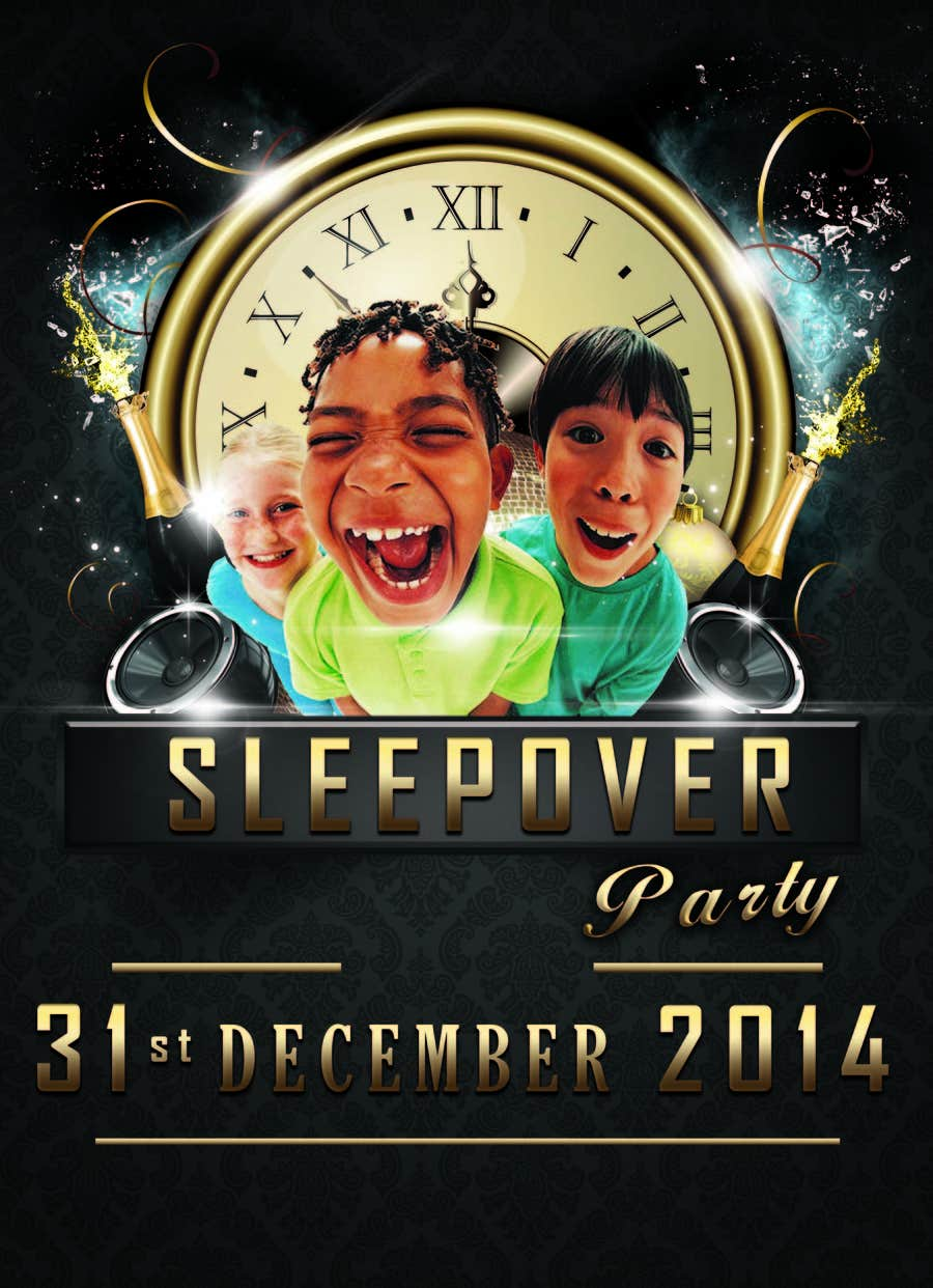 Bài tham dự cuộc thi #                                        18                                      cho                                         Design a Flyer for a New Years Eve Sleep Over Party