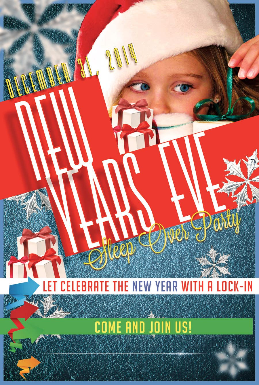 Bài tham dự cuộc thi #                                        9                                      cho                                         Design a Flyer for a New Years Eve Sleep Over Party