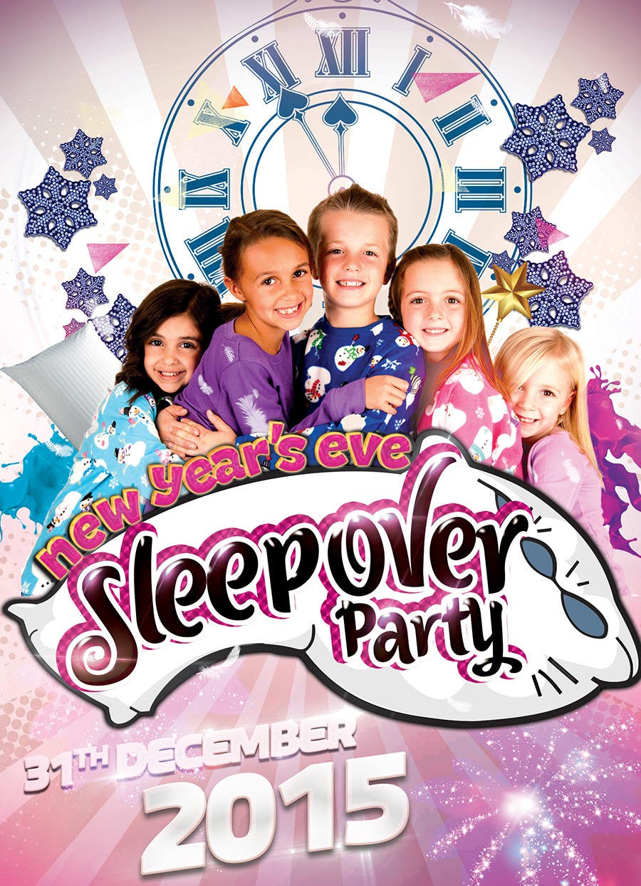 Bài tham dự cuộc thi #                                        11                                      cho                                         Design a Flyer for a New Years Eve Sleep Over Party