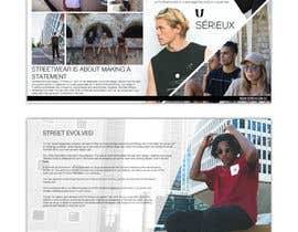 #67 for Design a Streetwear Labels wholesale buyer book (Cover pages 2x, intro page, business page, business information and contact details) by denysmuzia