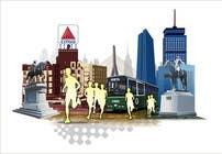 Bài tham dự #3 về Graphic Design cho cuộc thi Illustration Design for Generic Runners in Boston