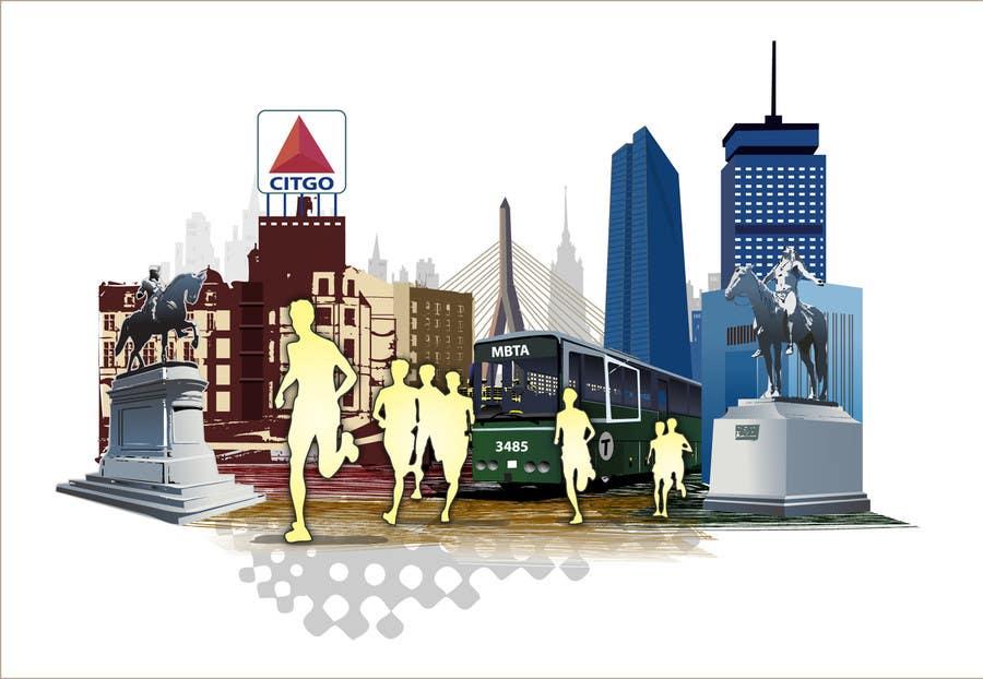 Bài tham dự cuộc thi #                                        3                                      cho                                         Illustration Design for Generic Runners in Boston