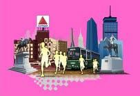 Bài tham dự #5 về Graphic Design cho cuộc thi Illustration Design for Generic Runners in Boston