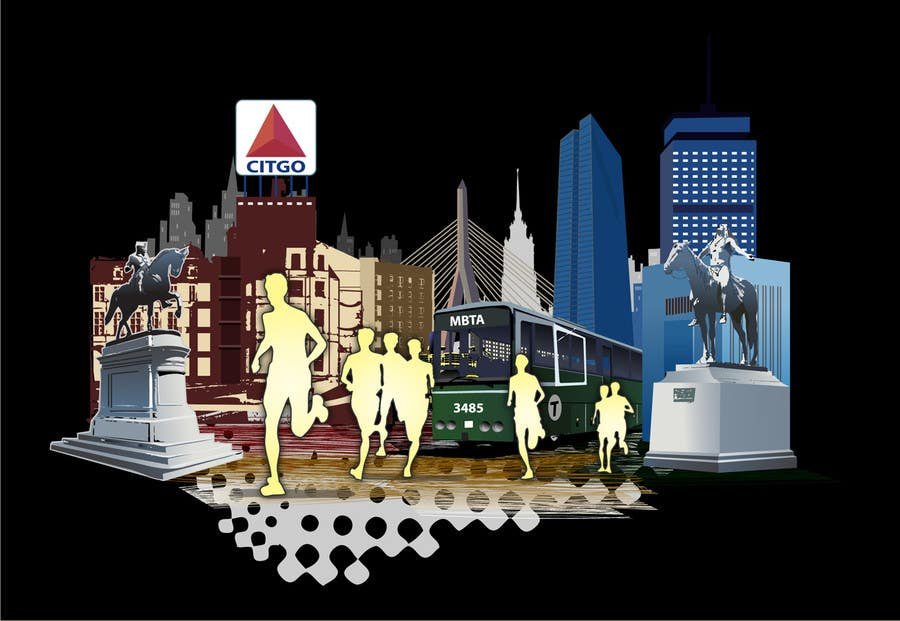 Bài tham dự cuộc thi #                                        4                                      cho                                         Illustration Design for Generic Runners in Boston