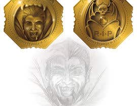 #15 for Sketch a realistic looking Dracula Coin by andreolwage