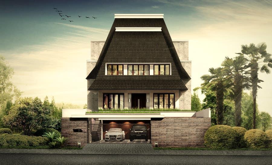 Bài tham dự cuộc thi #                                        13                                      cho                                         Illustration  3D architectural facade