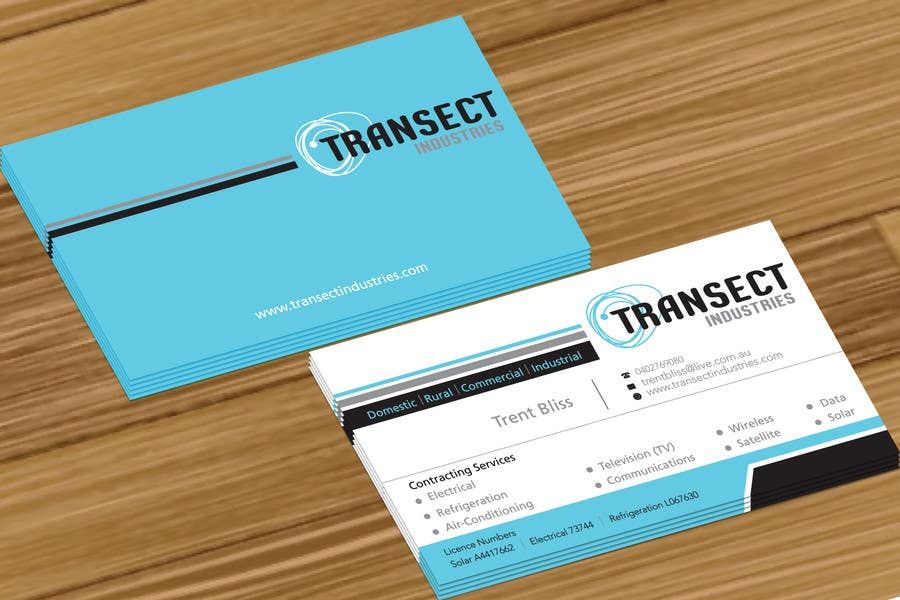 #56 for Business Card Design for Transect Industries by jobee