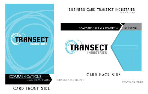 #50 for Business Card Design for Transect Industries by silverhawkx