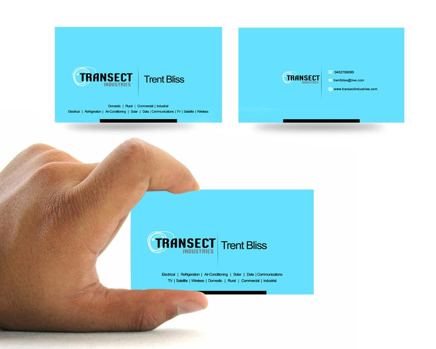 #17 for Business Card Design for Transect Industries by vigneshsmart