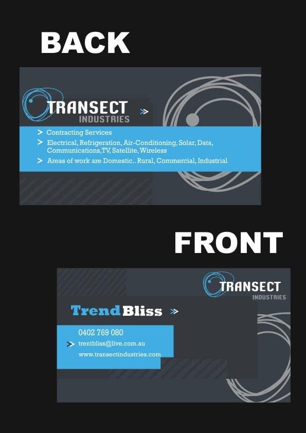 Bài tham dự cuộc thi #                                        44                                      cho                                         Business Card Design for Transect Industries