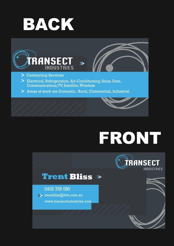 #46 for Business Card Design for Transect Industries by MotazAj