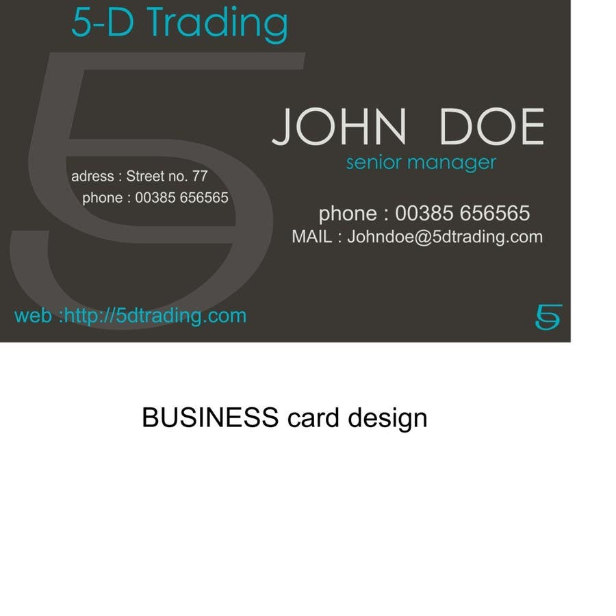 Contest Entry #13 for Corporate Identity for 5-D Trading Ltd