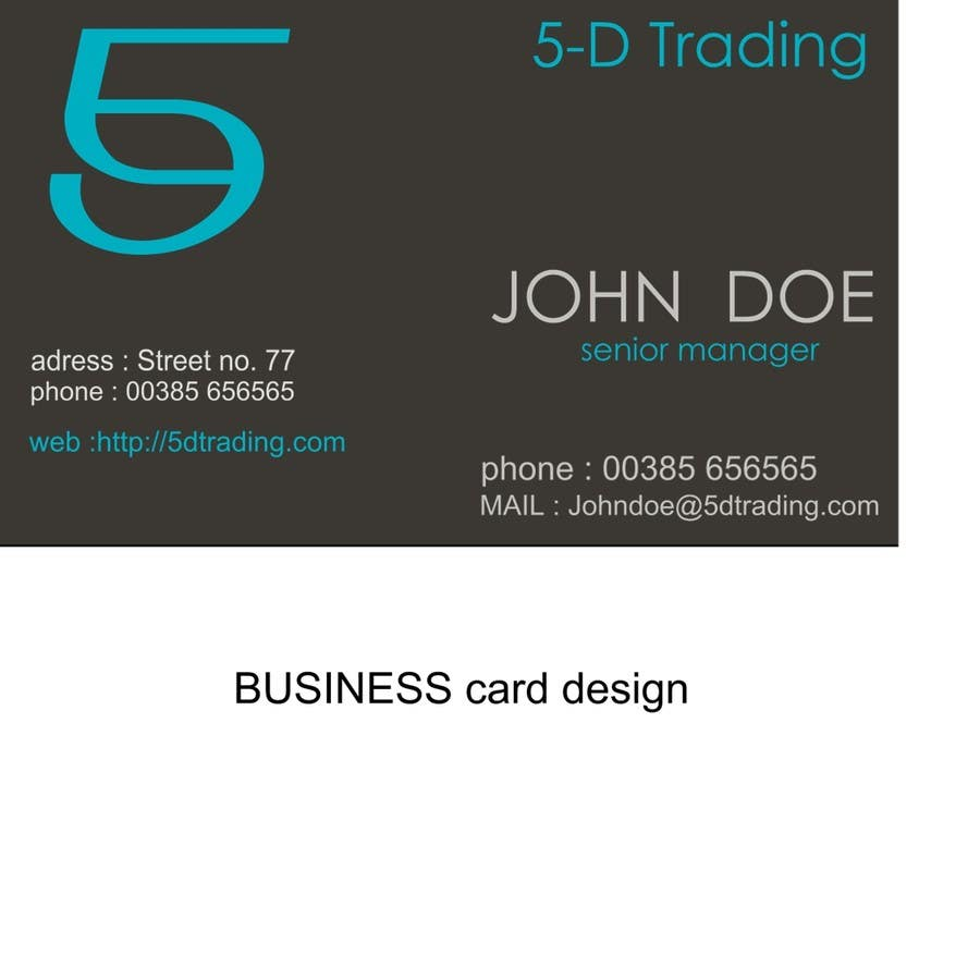 Inscrição nº                                         12                                      do Concurso para                                         Corporate Identity for 5-D Trading Ltd