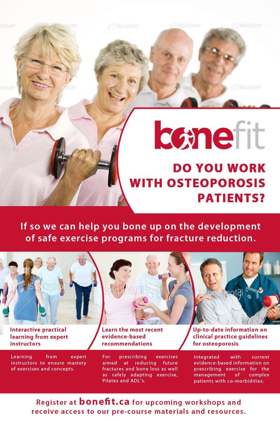 Конкурсная заявка №35 для Poster Design for Osteoporosis Canada- Bone Fit Program