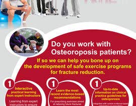 #40 pentru Poster Design for Osteoporosis Canada- Bone Fit Program de către numizan