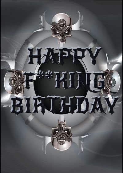 Entry 4 By Hemalsilva For Birthday Card Heavy Metal Style Freelancer