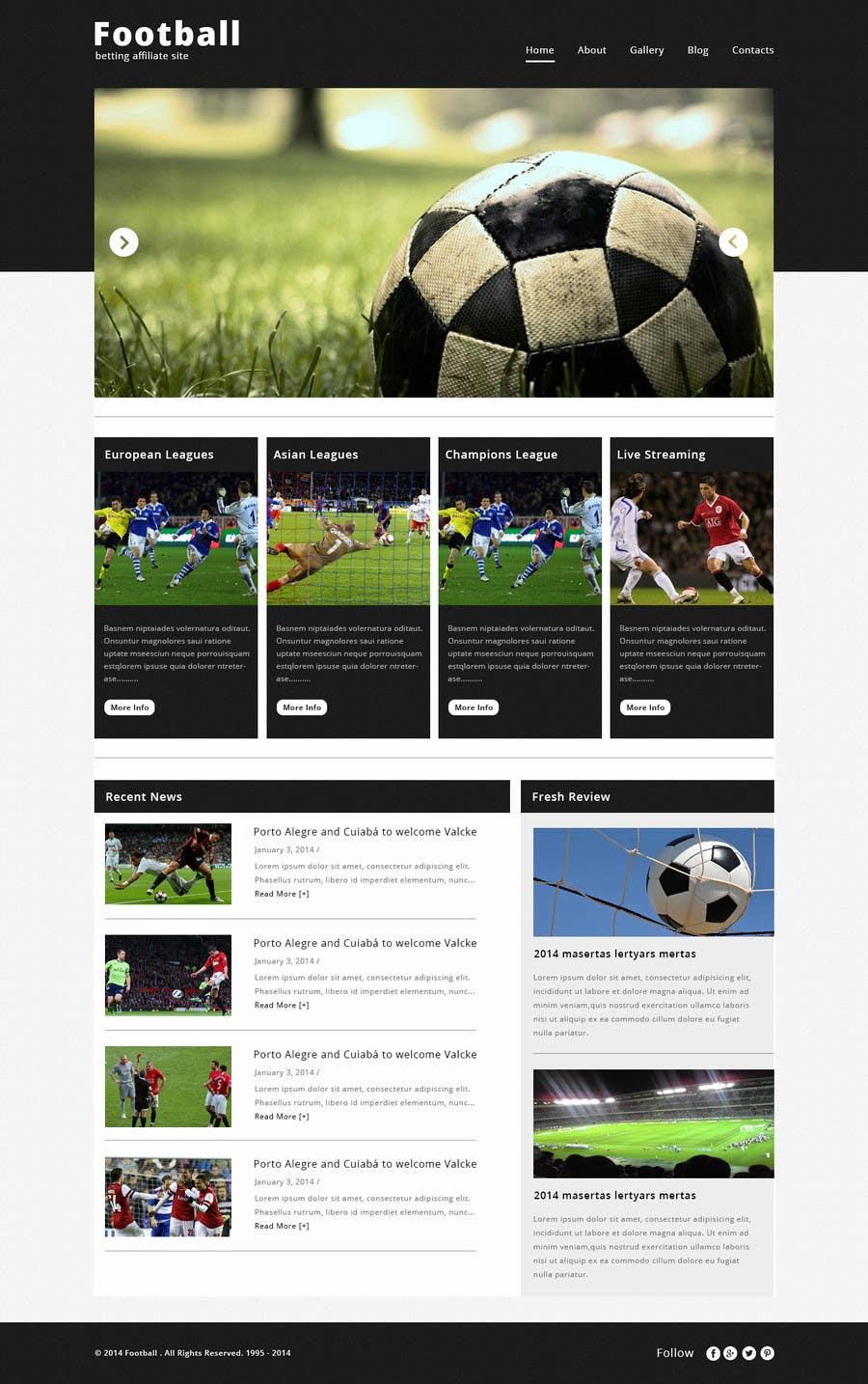 Bài tham dự cuộc thi #                                        4                                      cho                                         Homepage Mockup for a football affiliate betting site