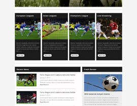#4 cho Homepage Mockup for a football affiliate betting site bởi negibheji
