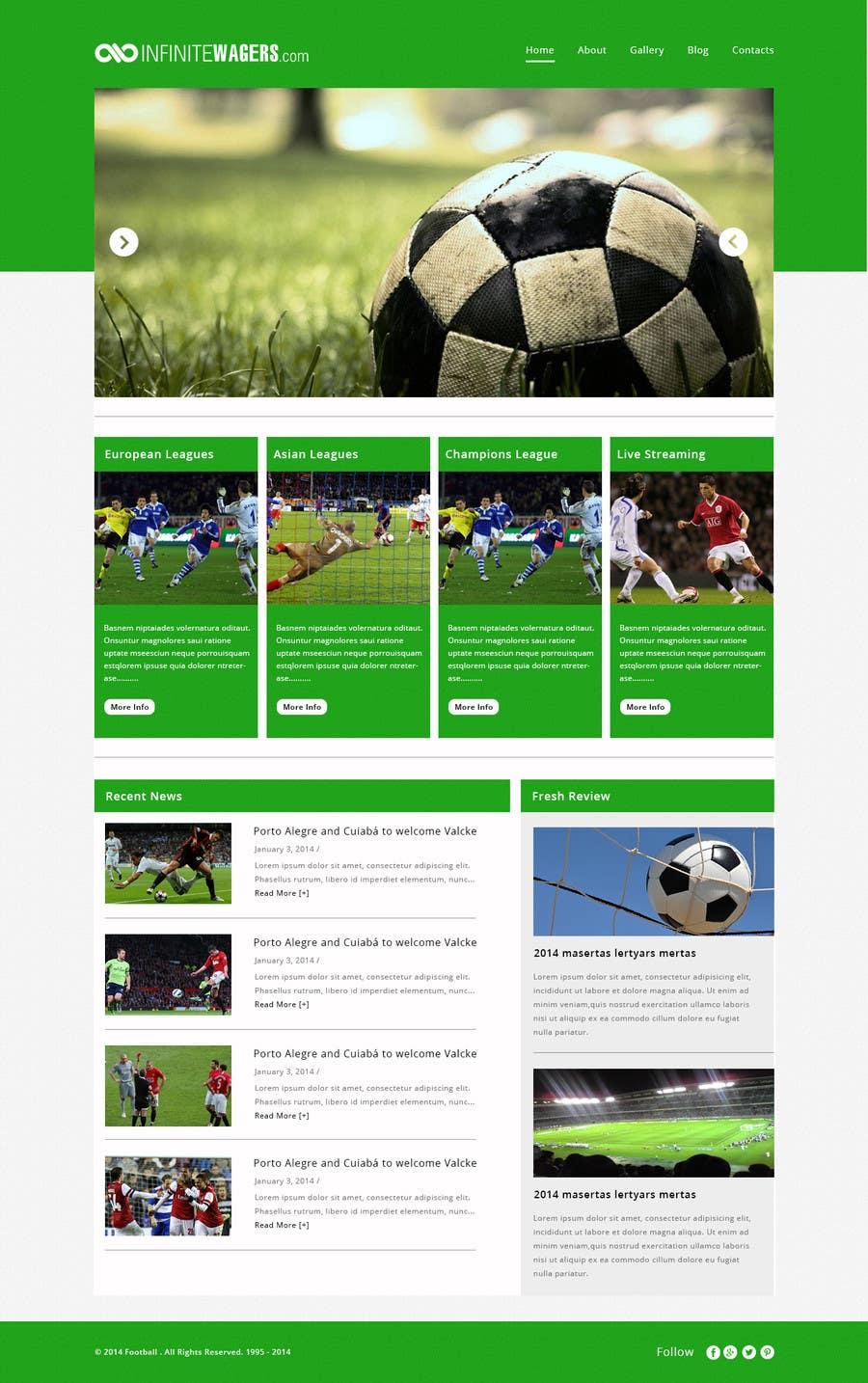 Bài tham dự cuộc thi #                                        5                                      cho                                         Homepage Mockup for a football affiliate betting site