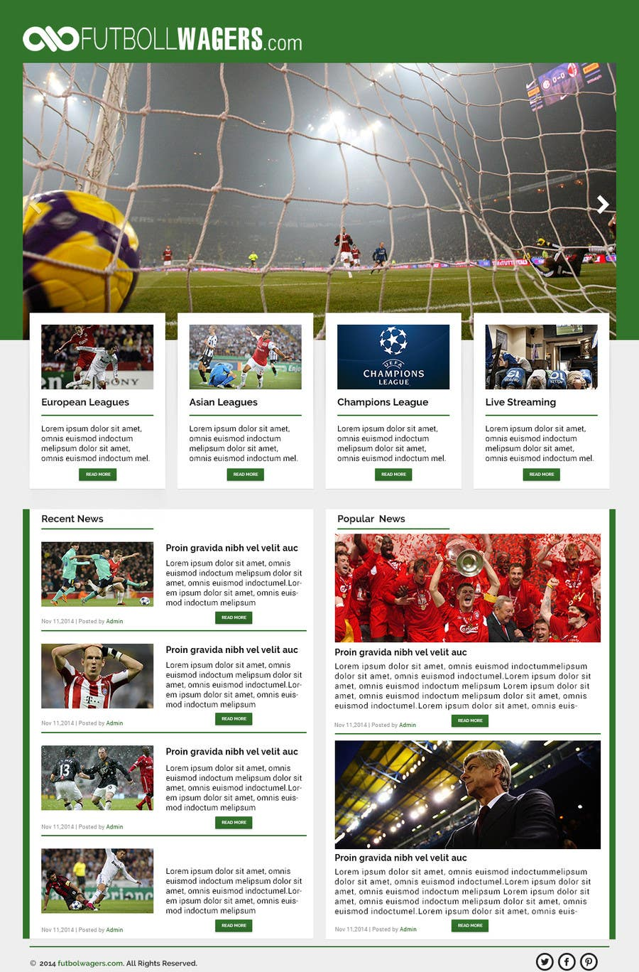 Bài tham dự cuộc thi #                                        14                                      cho                                         Homepage Mockup for a football affiliate betting site
