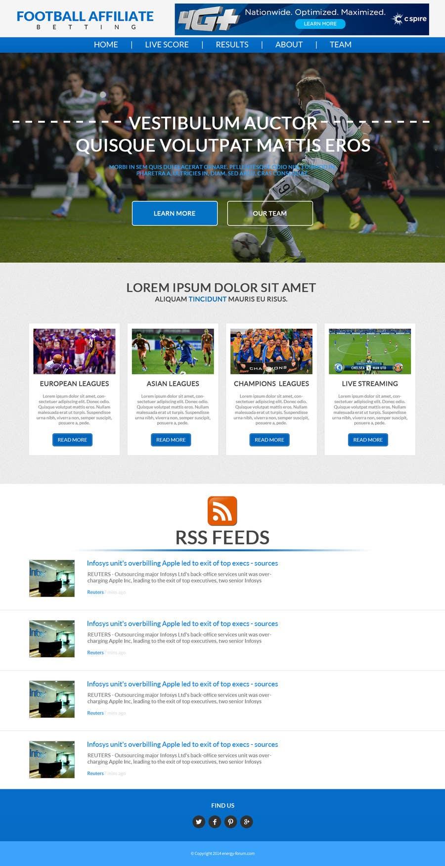 Bài tham dự cuộc thi #                                        3                                      cho                                         Homepage Mockup for a football affiliate betting site