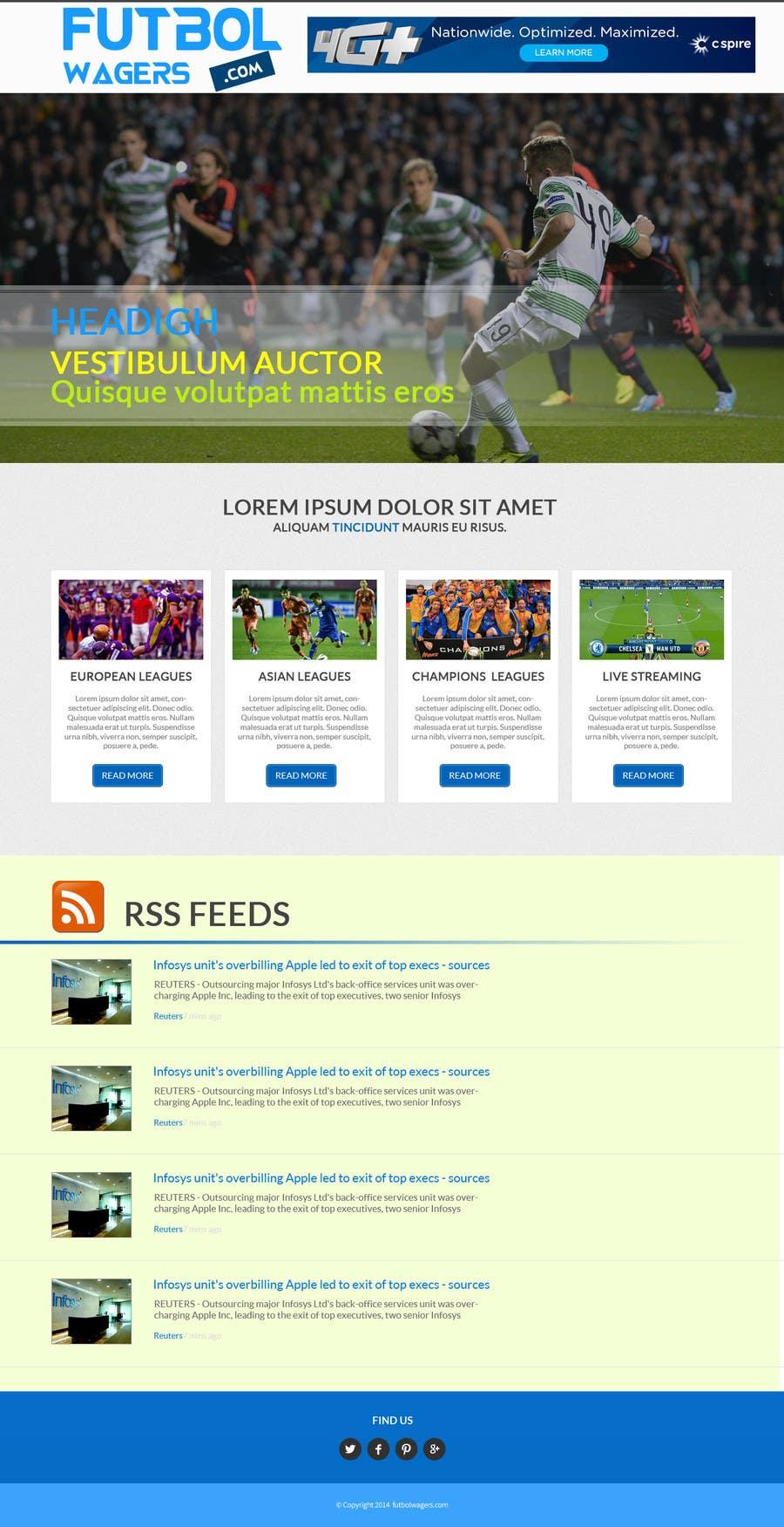 Bài tham dự cuộc thi #                                        6                                      cho                                         Homepage Mockup for a football affiliate betting site