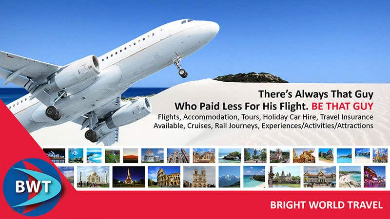 entry 5 by drycrushader for design advertisement slides for travel
