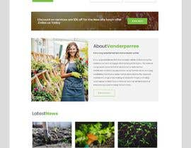 nº 35 pour Design homepage for website garden center par chiku789