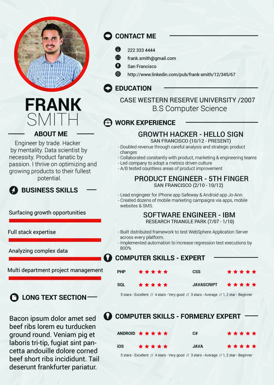 Entry #9 by nashrule15 for Design a uniquely professional resume ...