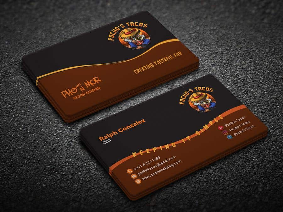 Entry #147 by Neamotullah for Pocho\'s Catering Business Card ...