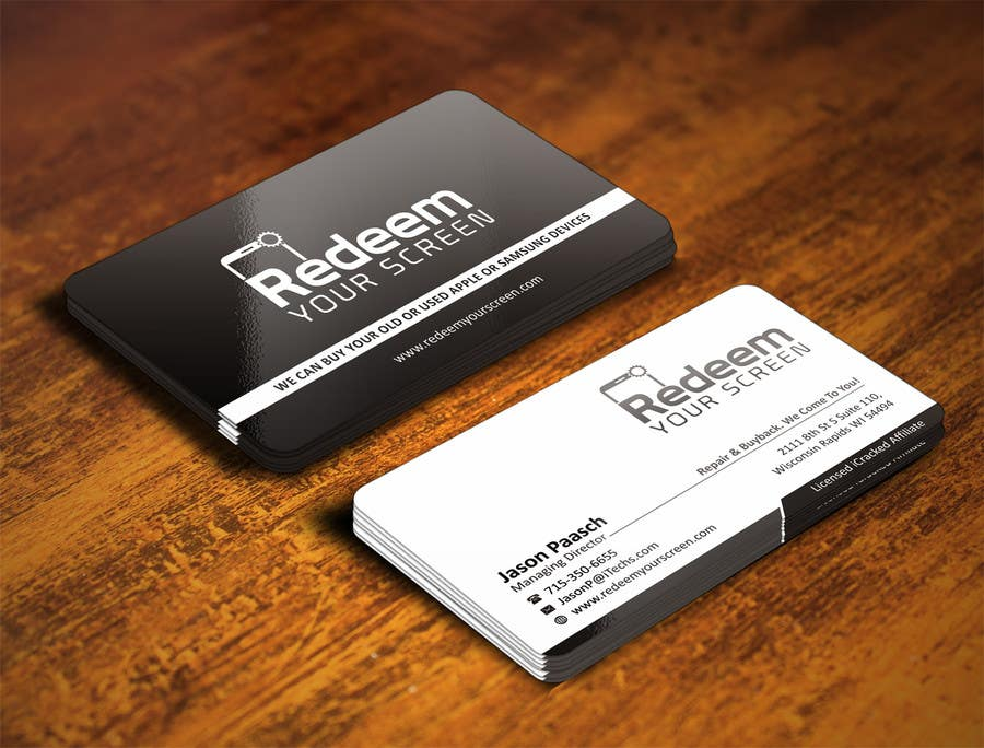 Business card design cell phonetablet repair freelancer reheart Image collections
