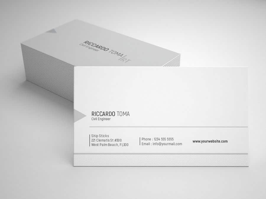 Entry 243 by wefreebird for business cards civil engineer business card colourmoves
