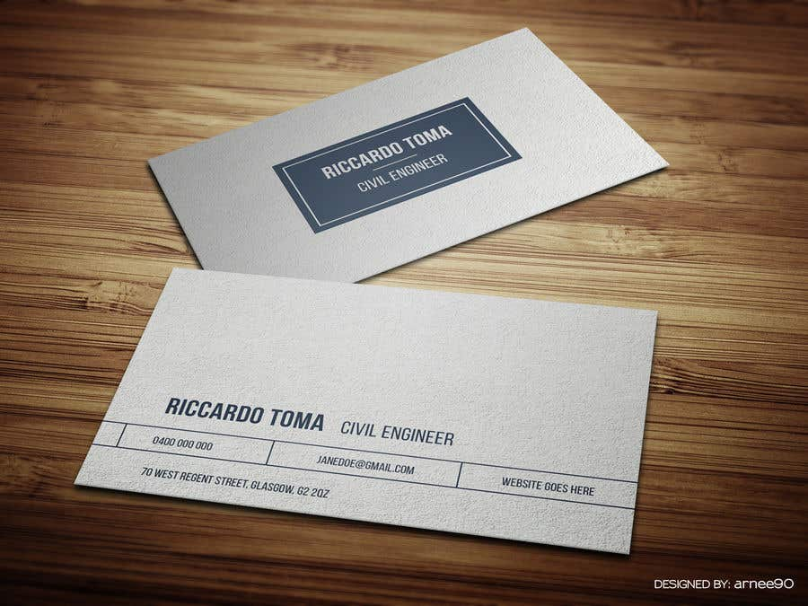 entry 11 by arnee90 for business cards civil engineer freelancer