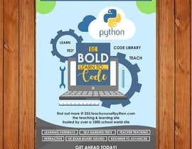 #4 for Promotional Poster A5 for a website and coding servies by ahmadyusuf1998