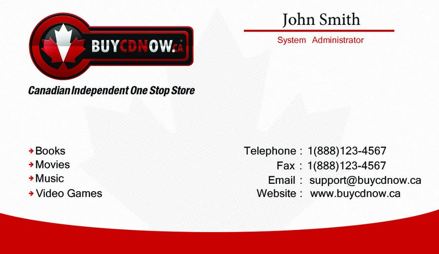 Конкурсная заявка №4 для Business Card Design for BUYCDNOW.CA