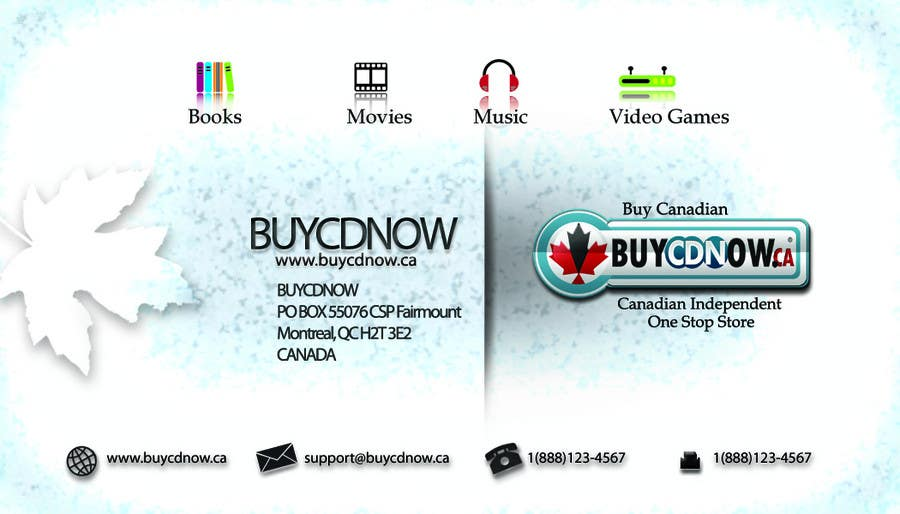 Contest Entry #78 for Business Card Design for BUYCDNOW.CA