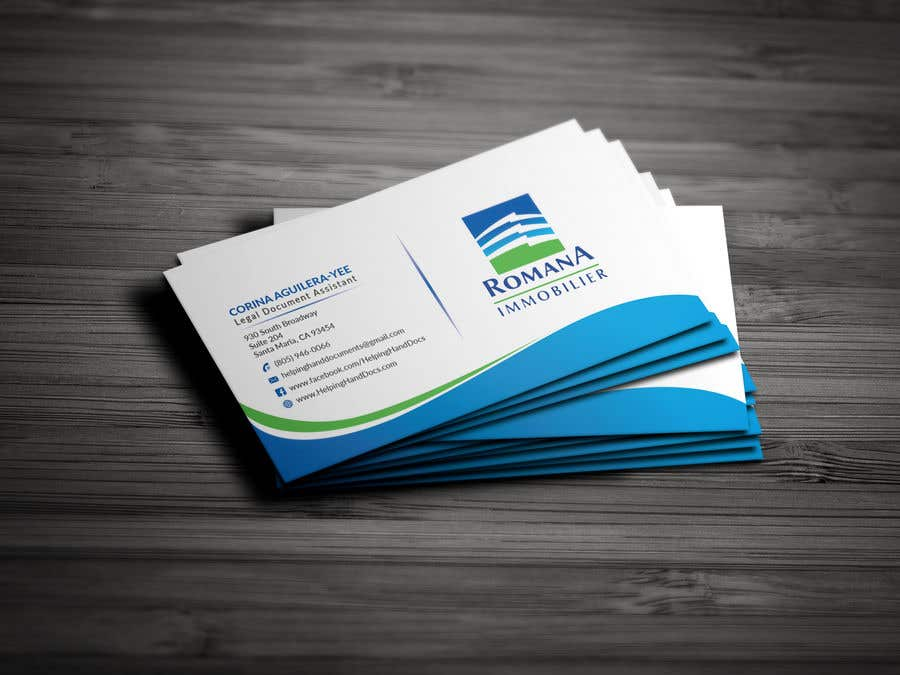 Entry #345 by EagleDesiznss for design 2 sided business card with ...
