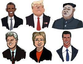 #9 for sketch drawing or Illustration of Donald Trump, Mitt Romney, Kim Jong Un, Hillary Clinton, Bill Clinton and Barack Obama by Artistvic