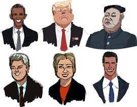 #9 untuk sketch drawing or Illustration of Donald Trump, Mitt Romney, Kim Jong Un, Hillary Clinton, Bill Clinton and Barack Obama oleh Artistvic