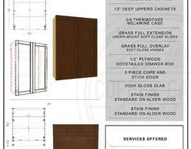 #12 for Help me with Marketing/cabinet company quick spec sheet by thirdricohermoso
