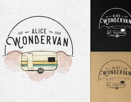 "#125 for Simple vintage caravan logo - ""Alice Wondervan"" by gabriellejeffery"