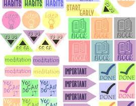 Nro 12 kilpailuun Design Stickers for Planner/Organizer käyttäjältä djingga17