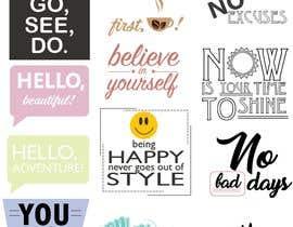 Nro 15 kilpailuun Design Stickers for Planner/Organizer käyttäjältä PixiePie