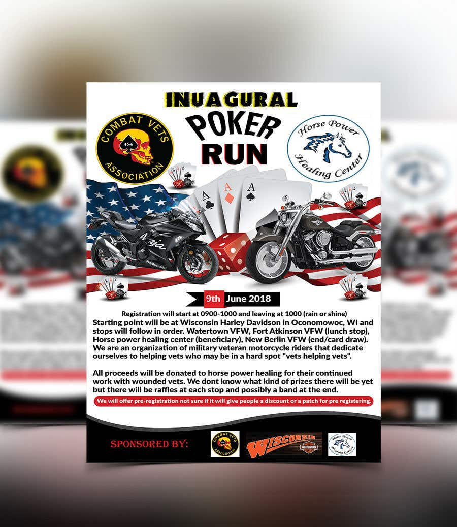 Contest Entry #59 for Inuagural poker run flyer